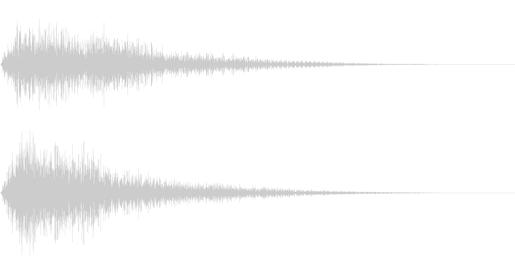 ゴージャスな決定音1の未再生の波形