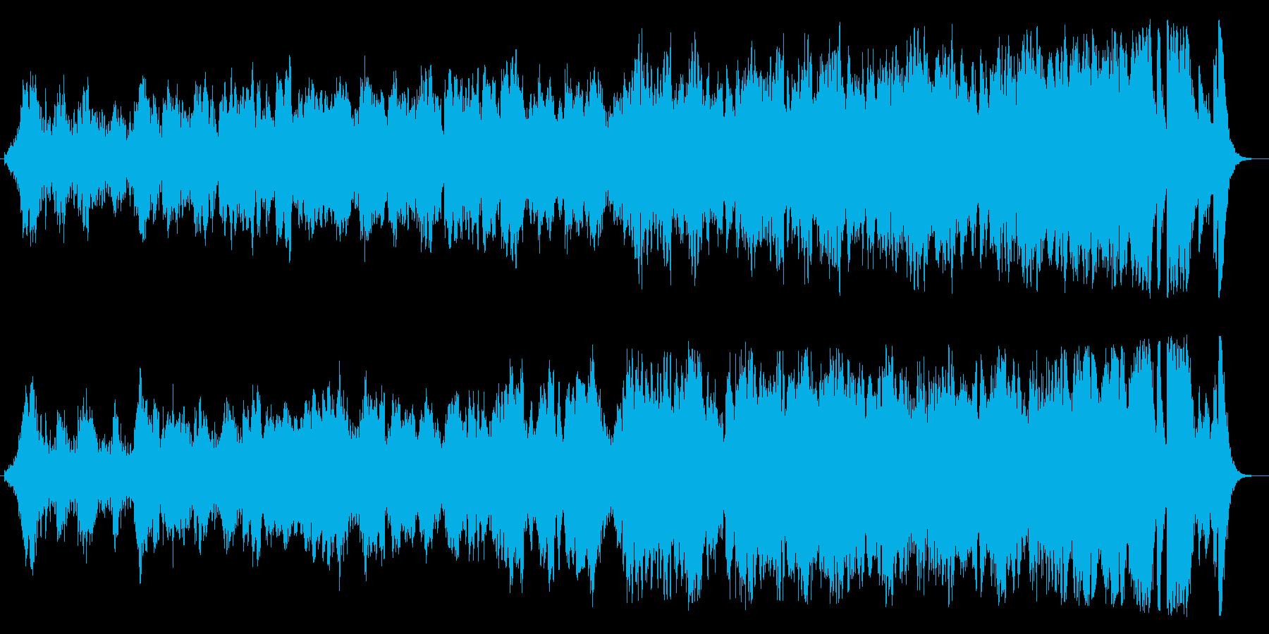 河川の雄大な流れのようなオーケストラの再生済みの波形