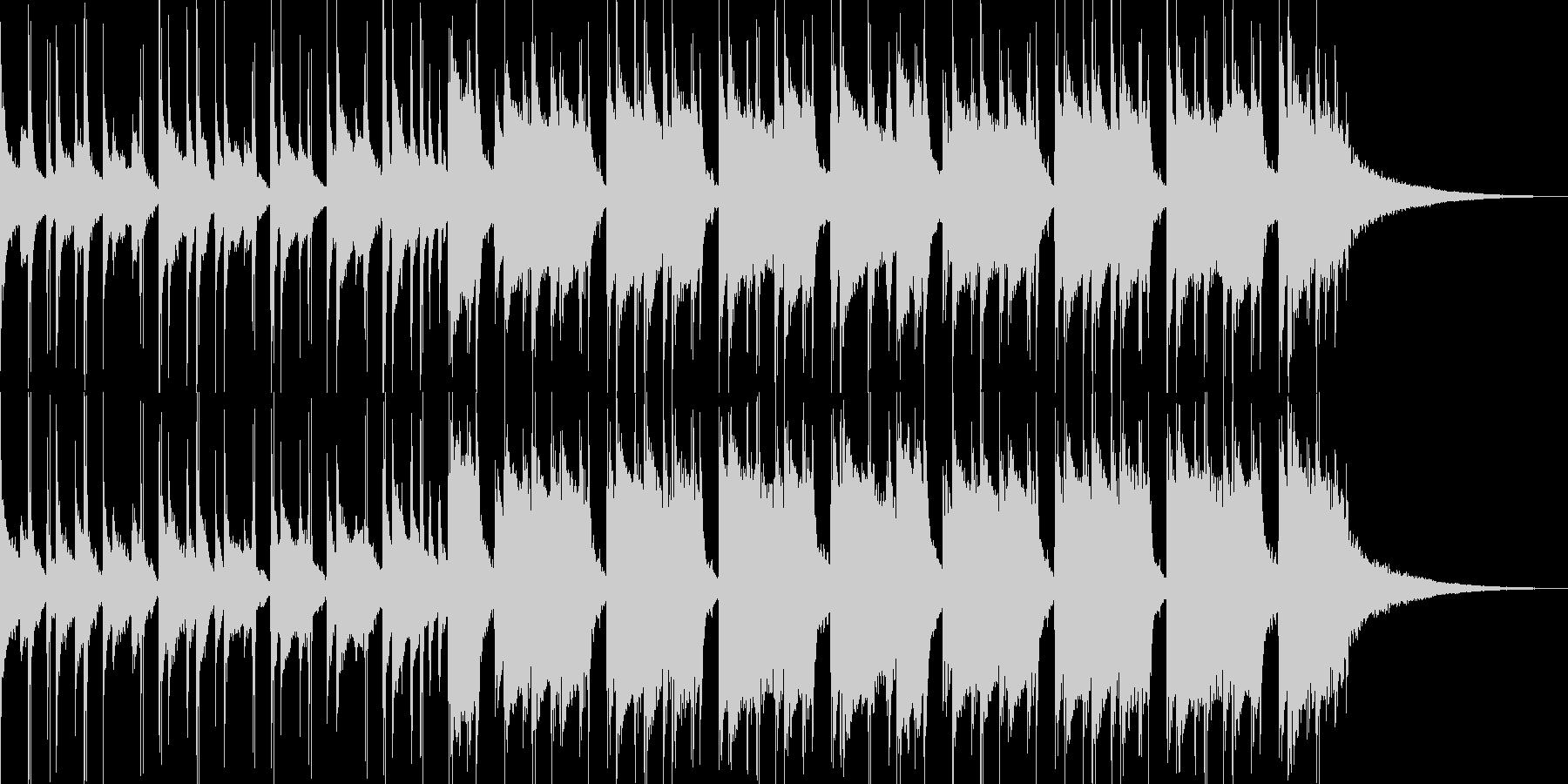 28秒 明るいギターとドラムの未再生の波形