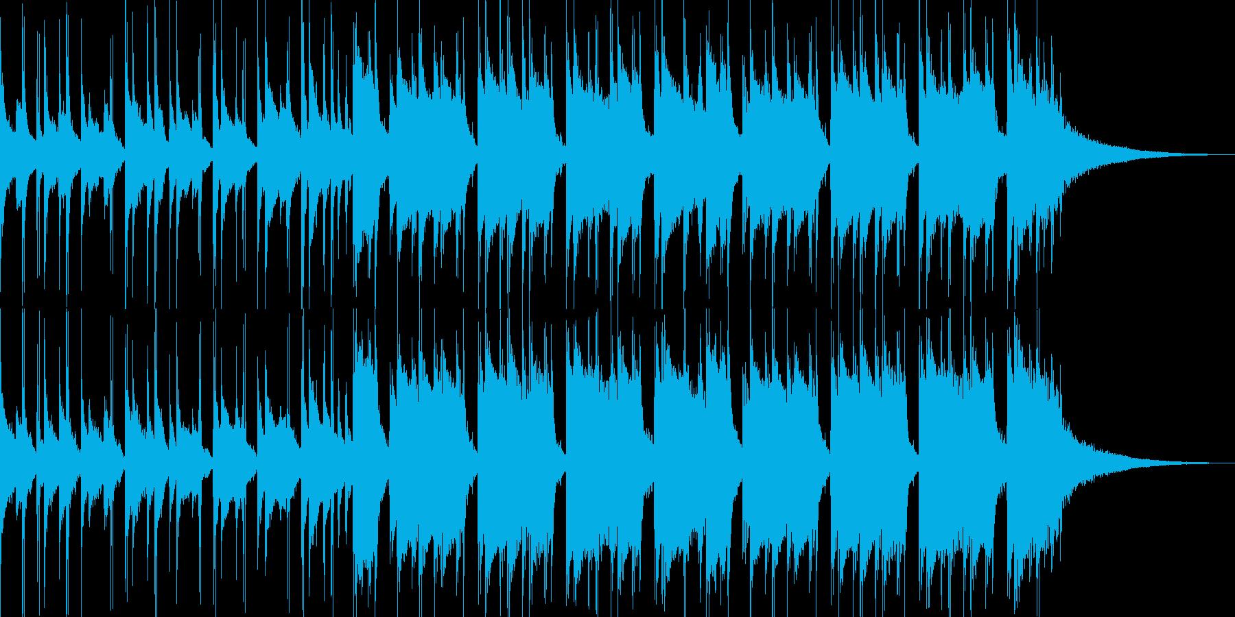 28秒 明るいギターとドラムの再生済みの波形