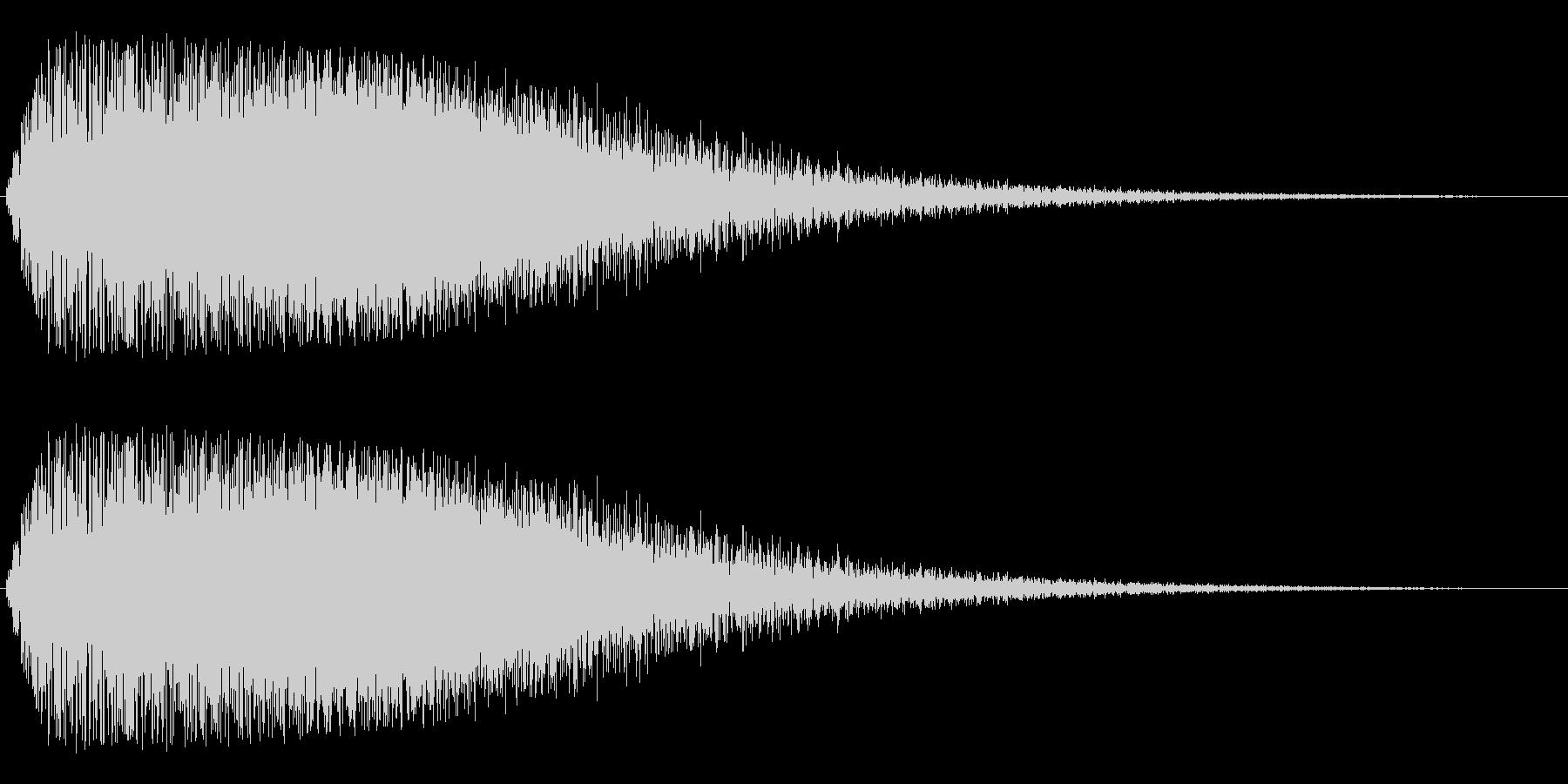 キラキラから不安な余韻を残すジャララ音の未再生の波形
