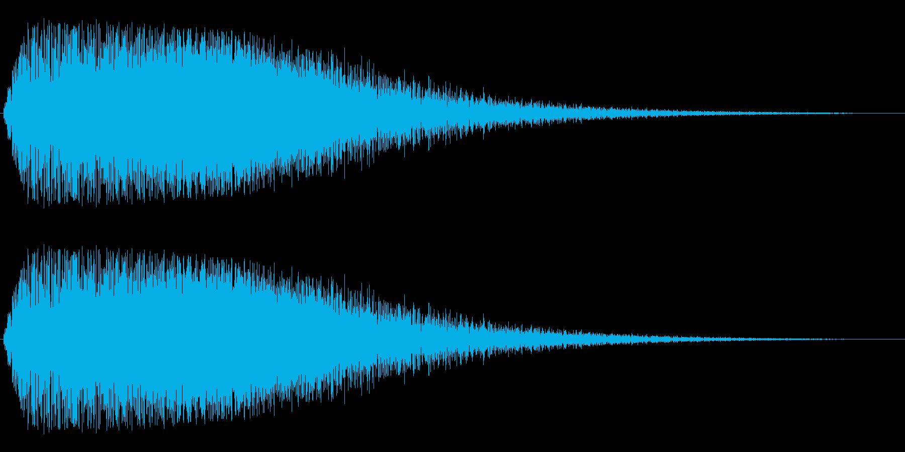 キラキラから不安な余韻を残すジャララ音の再生済みの波形