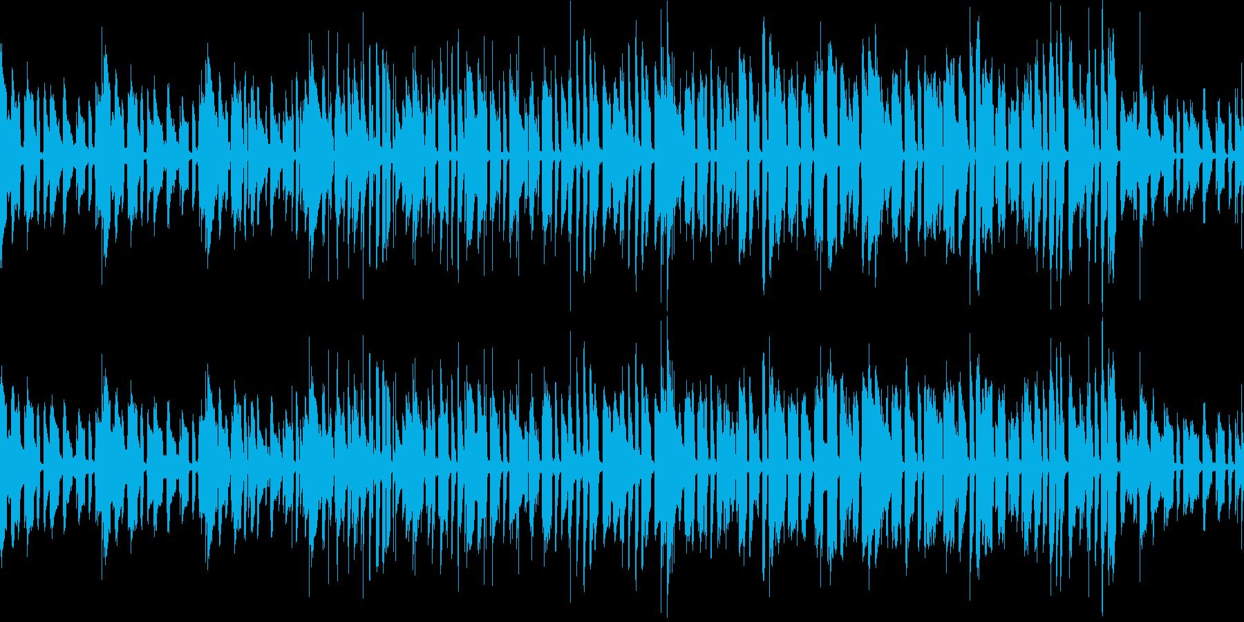 トロンボーンのメロディーの再生済みの波形