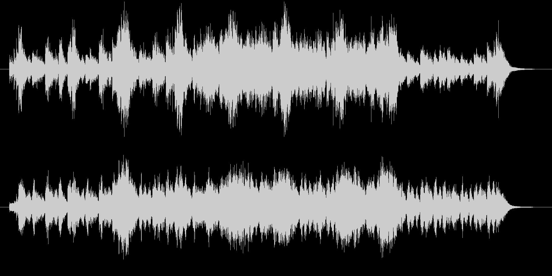 緊迫した場面のオーケストラ系の未再生の波形