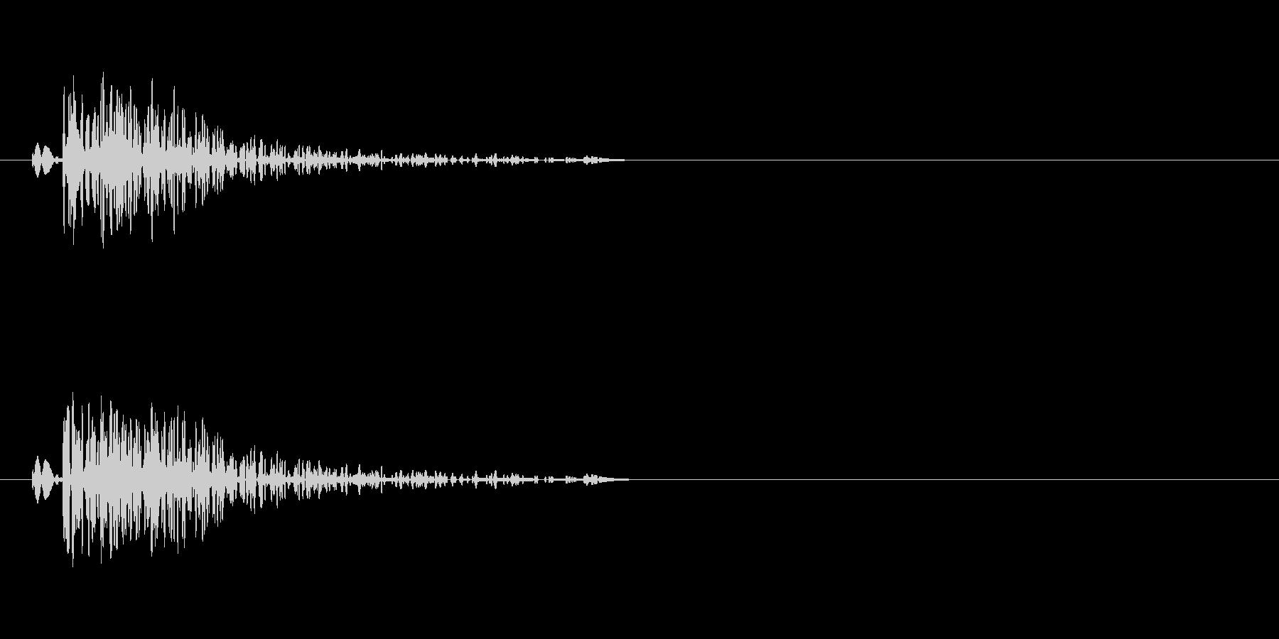 銃声(音が高い)の未再生の波形