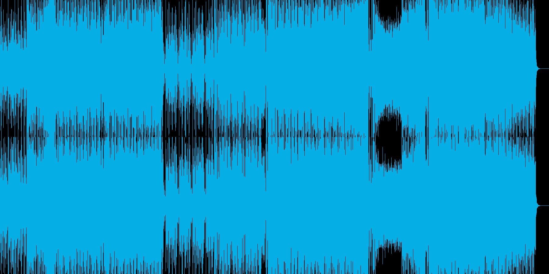おしゃれなピアノのダンスミュージックの再生済みの波形