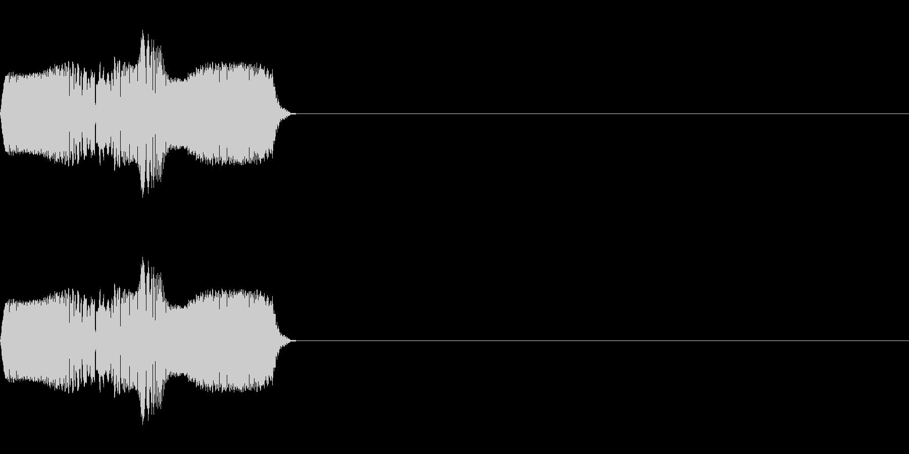コミカルな足音、ボタン音などのイメージの未再生の波形