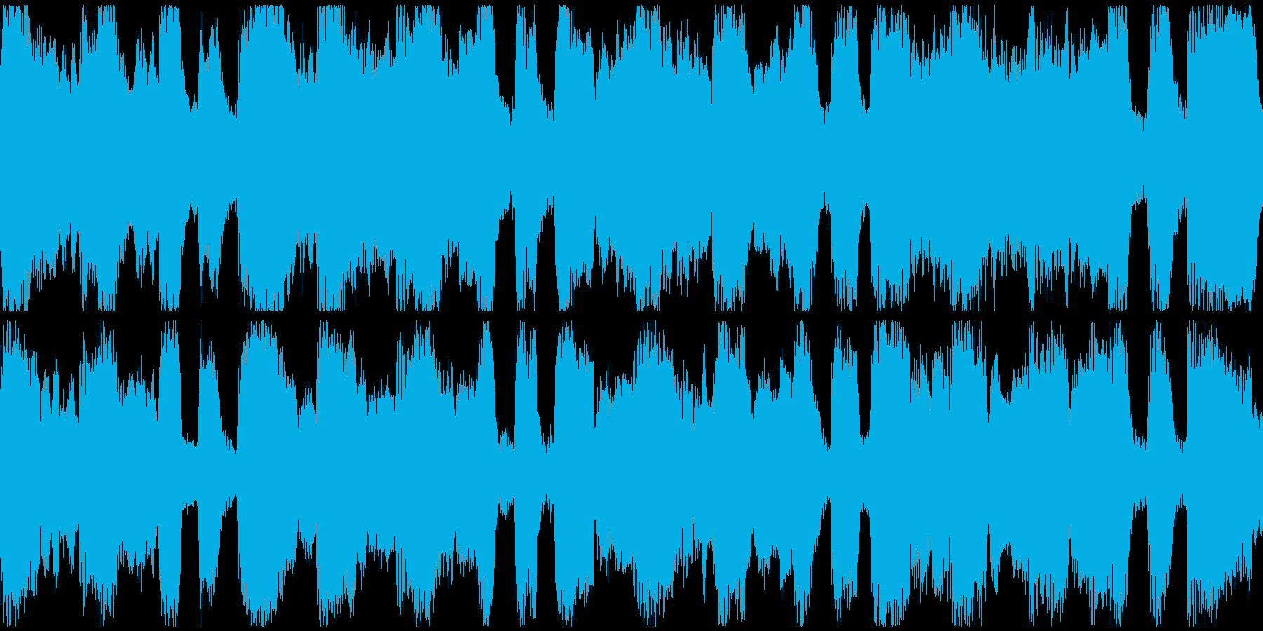 アルプス的なループ曲の再生済みの波形