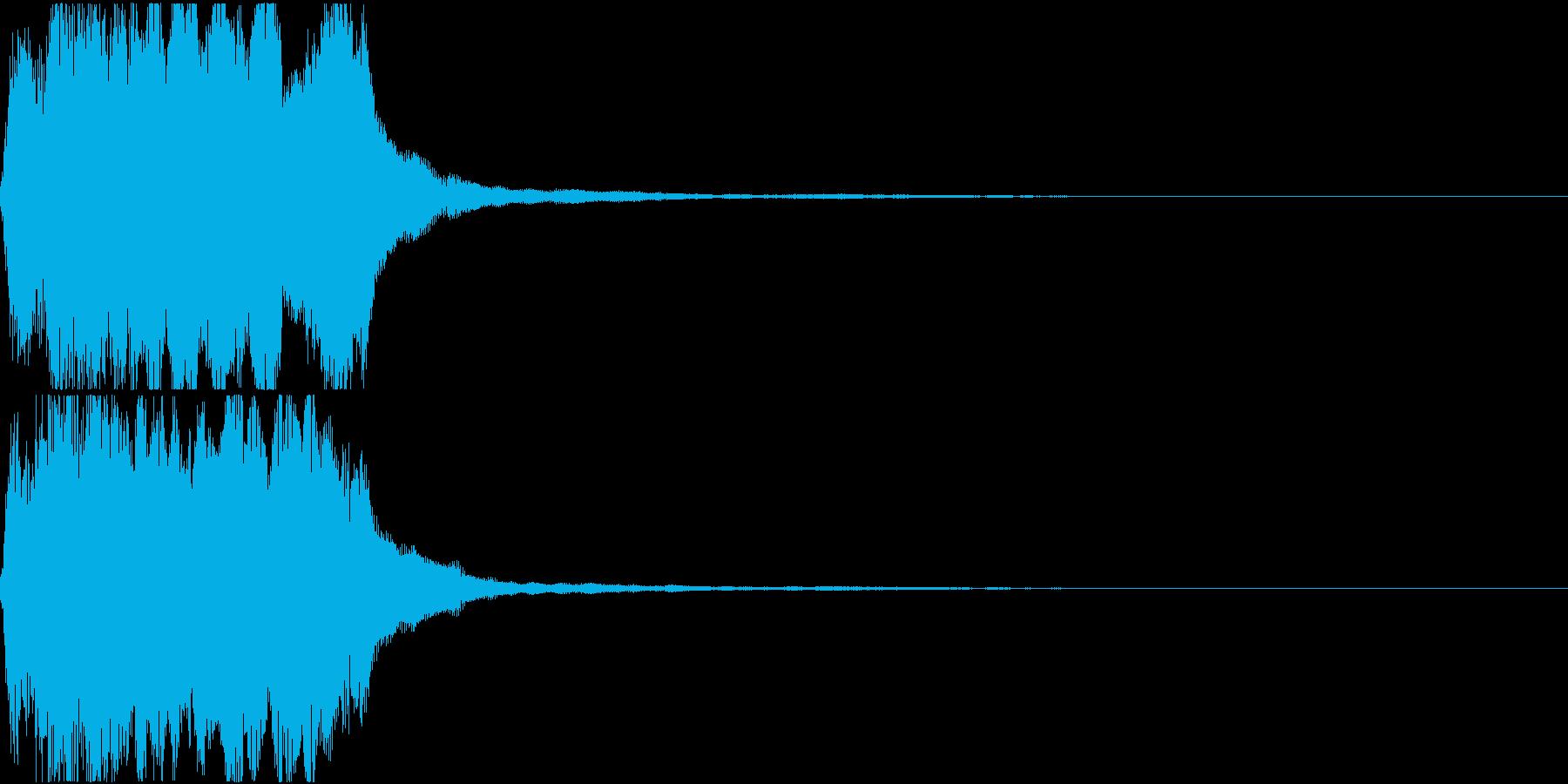 ラッパ ファンファーレ 定番 8の再生済みの波形