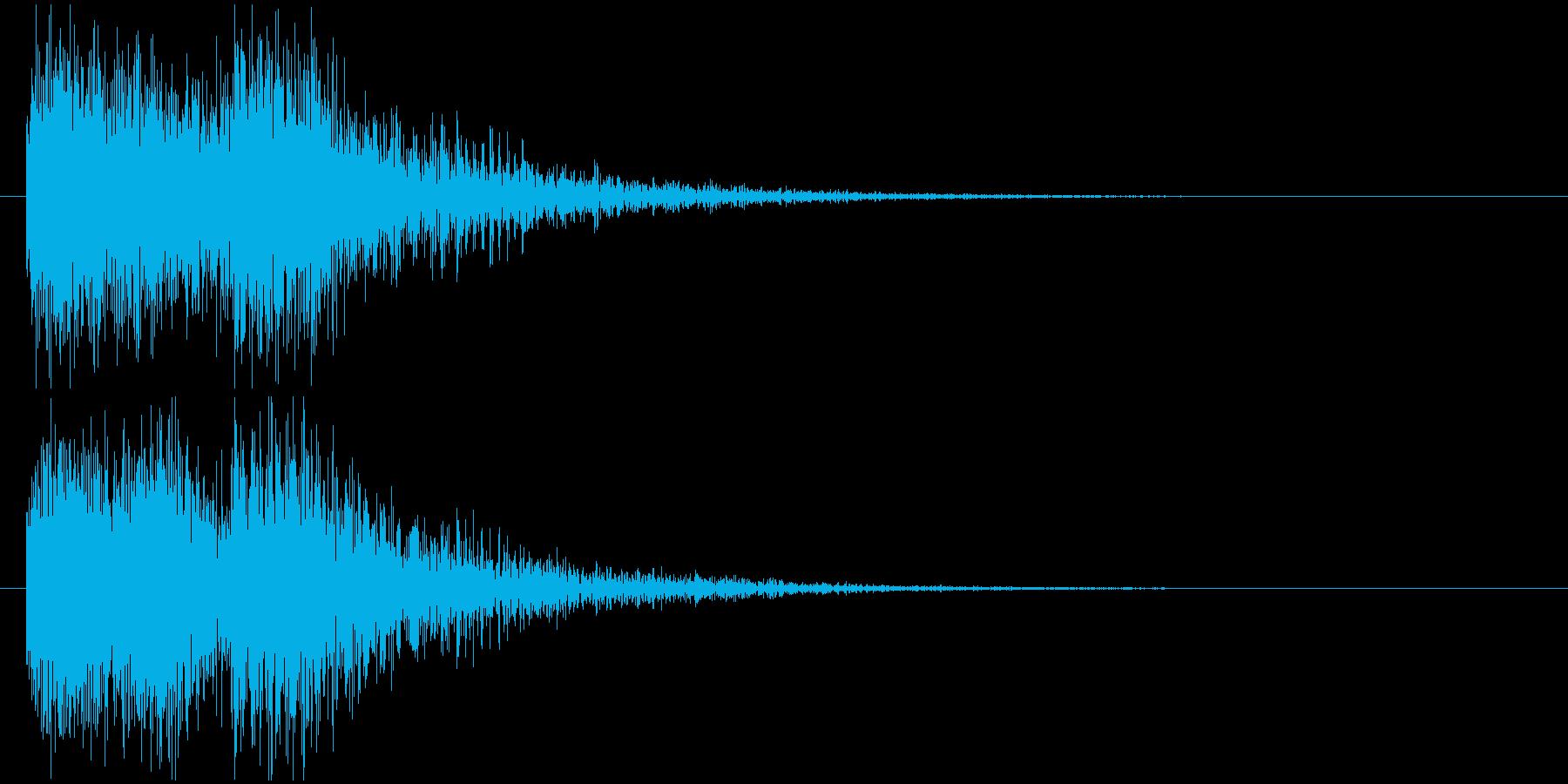 クイズ出題音(ジャカジャン!)の再生済みの波形