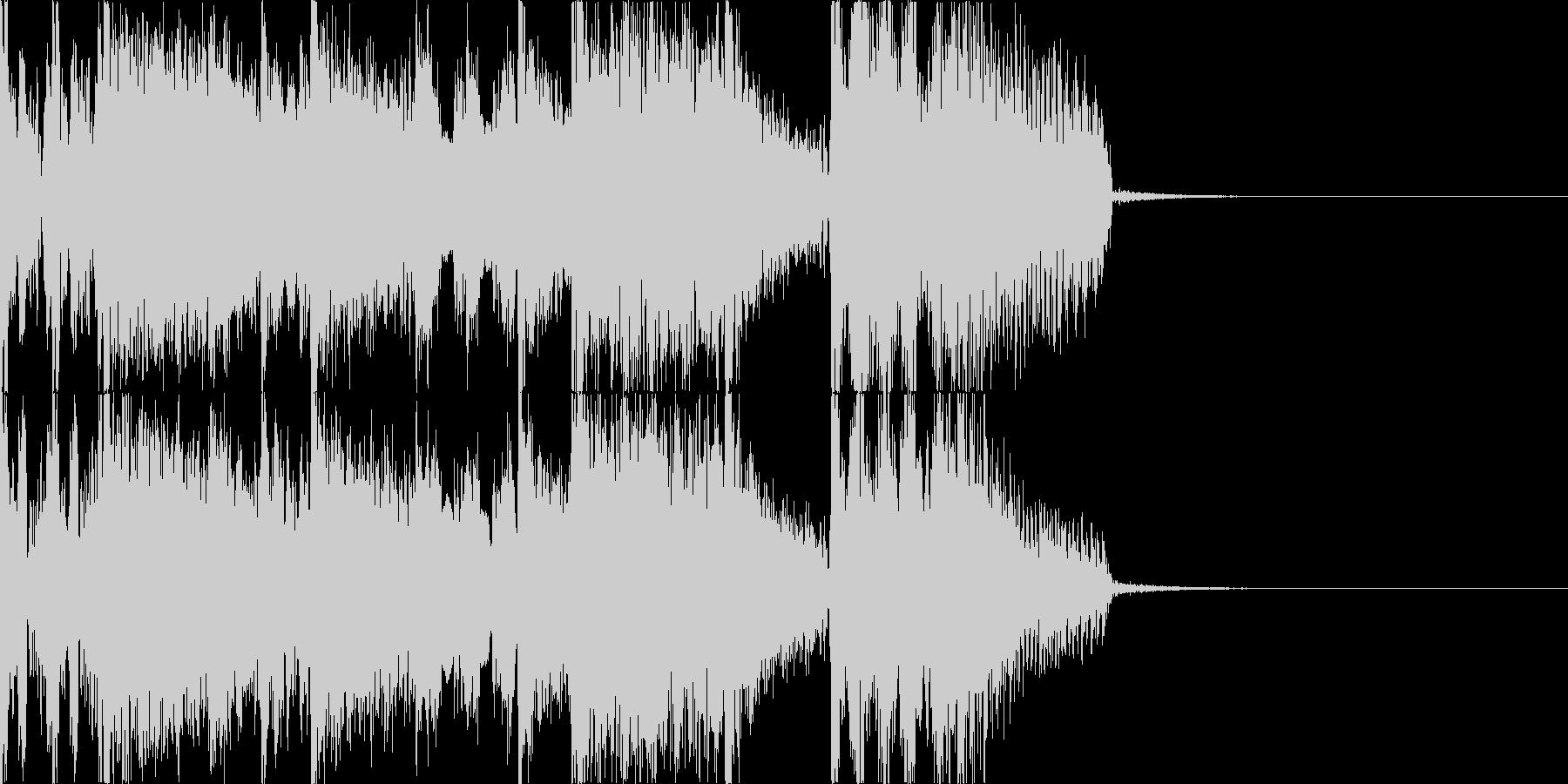 サウンドロゴ ジングル CM 3の未再生の波形