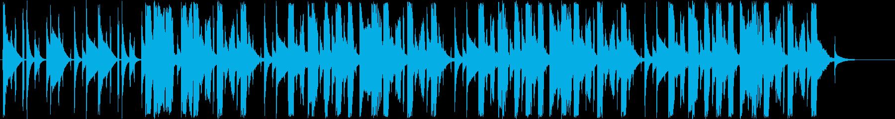 ポップでゆっくりしたシンセサイザーの曲の再生済みの波形