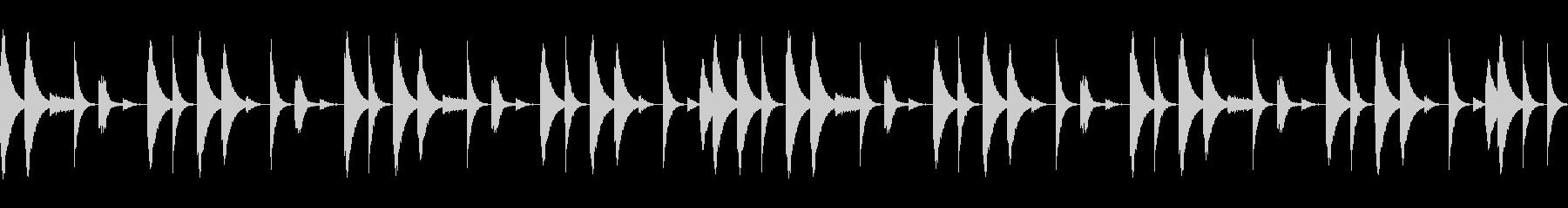 808音源を使用したシンプルなリズム05の未再生の波形