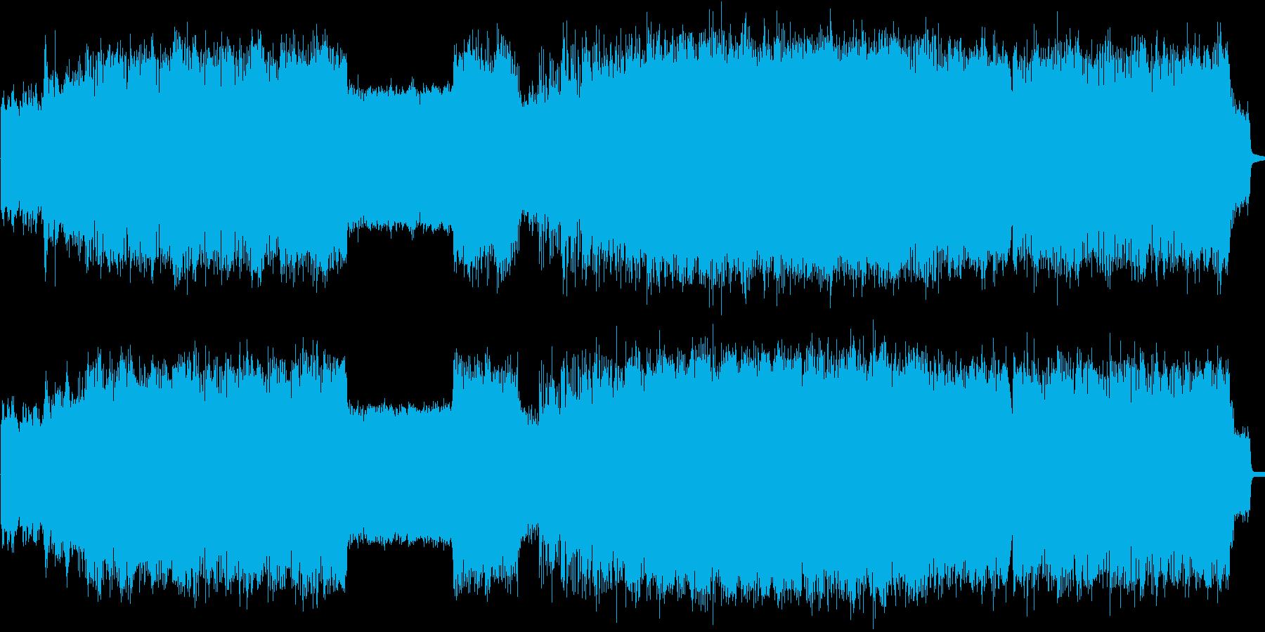 疾走感あふれるフュージョンテクノの再生済みの波形
