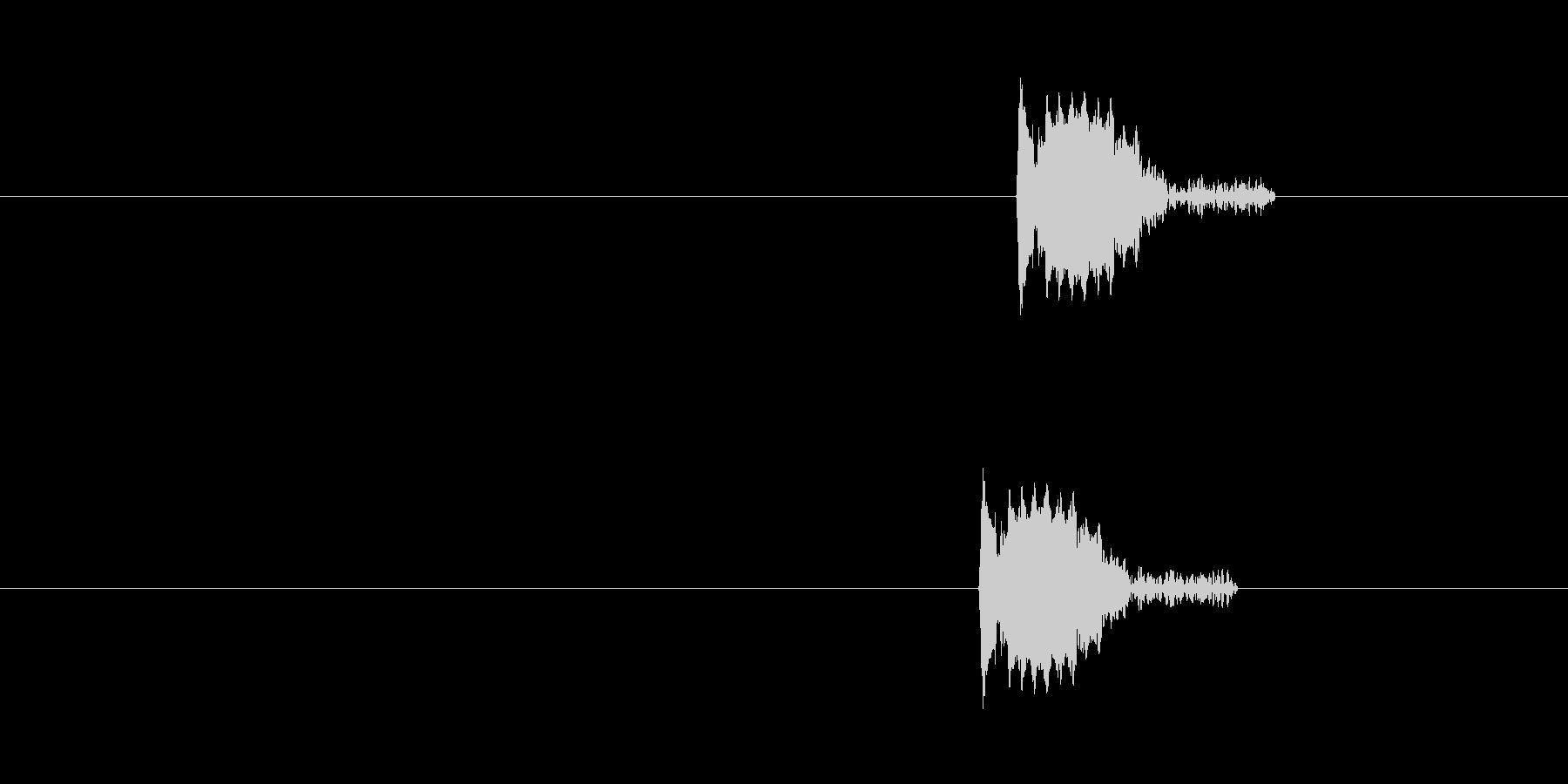 チッ(キャラクターの応答リアクション音)の未再生の波形