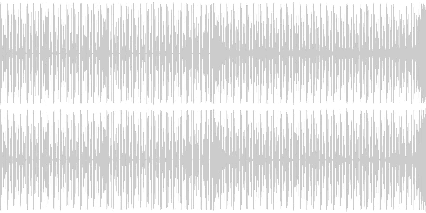 ループ,シューティング,シンプルBGMの未再生の波形