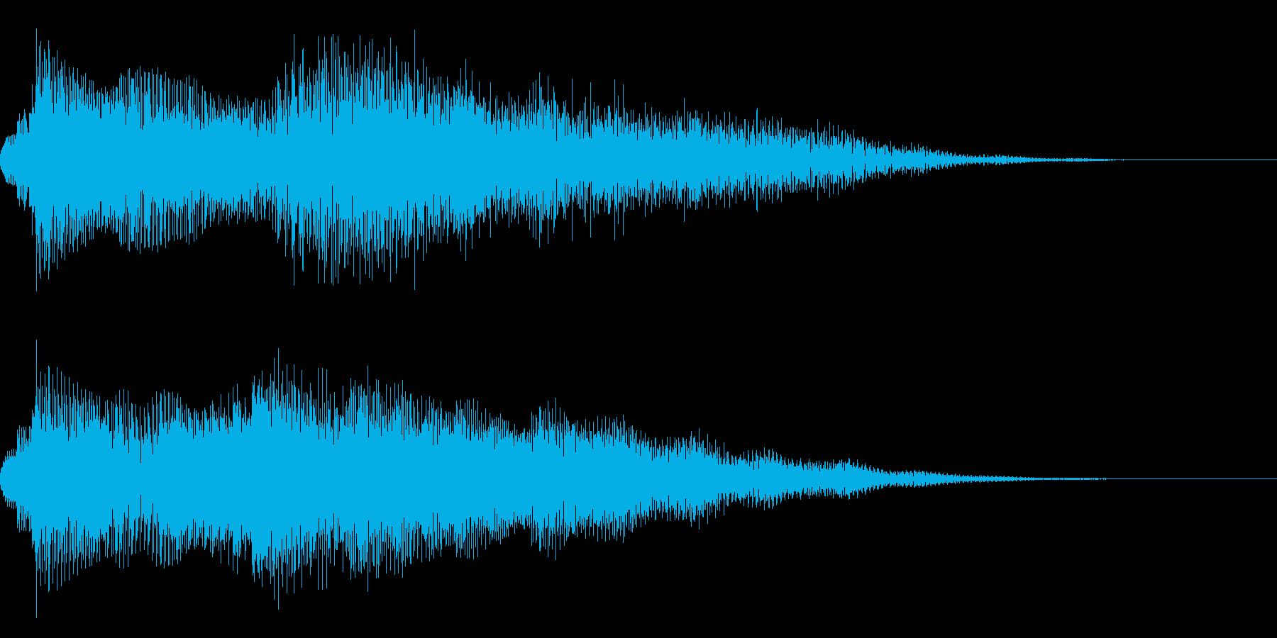 エレピの音色が厳かなサウンドロゴの再生済みの波形