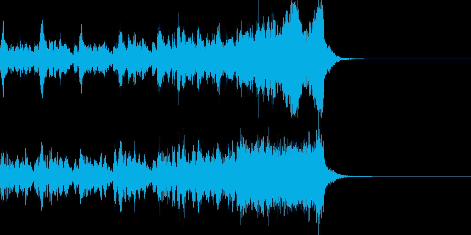 競馬をイメージしたファンファーレの再生済みの波形