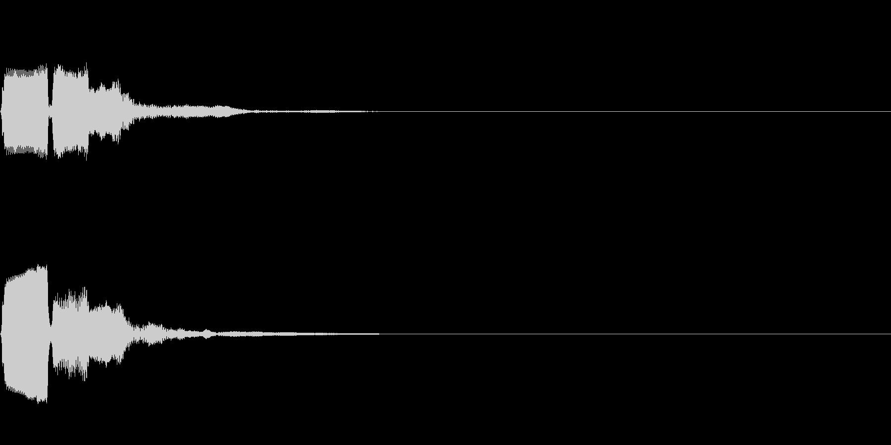 シンプルな効果音 デジタルなピコの未再生の波形