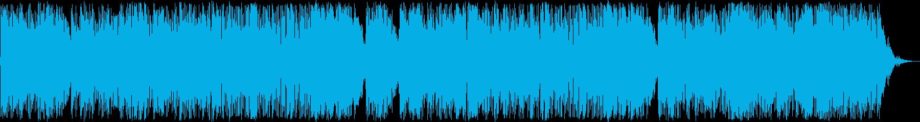 ゆったりして安らぐインスト曲の再生済みの波形