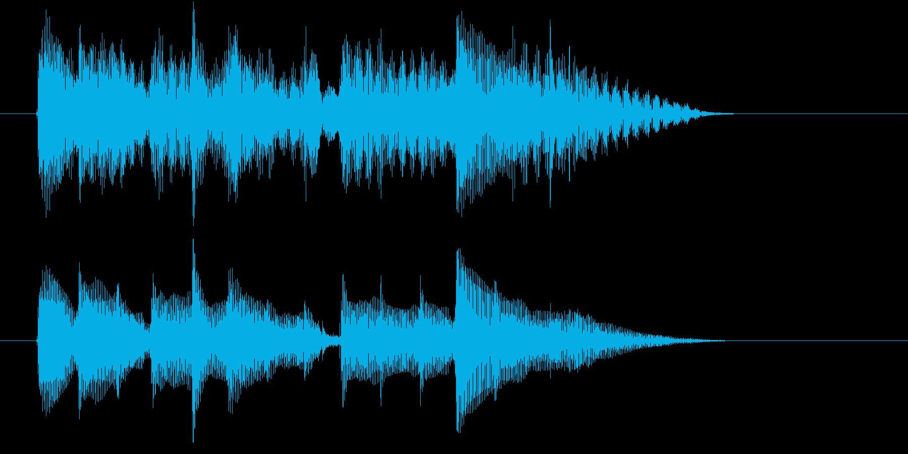 アナウンス前に注意を促すジングルの再生済みの波形