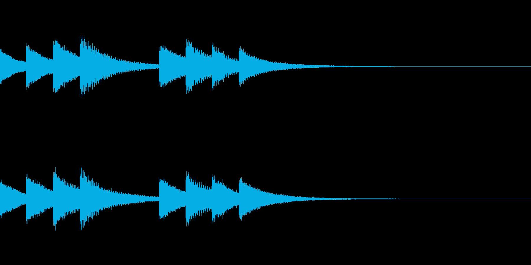 始業・終業 学校のチャイム04の再生済みの波形