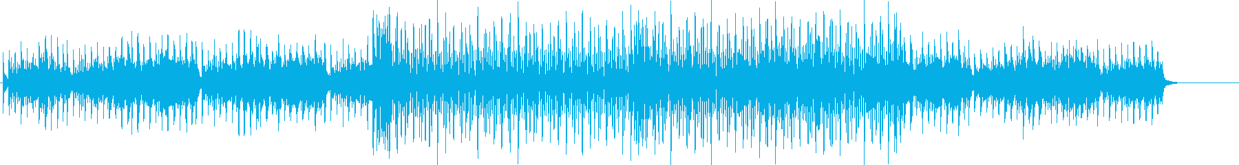 徐々に高揚する洗練されたサウンドのテクノの再生済みの波形