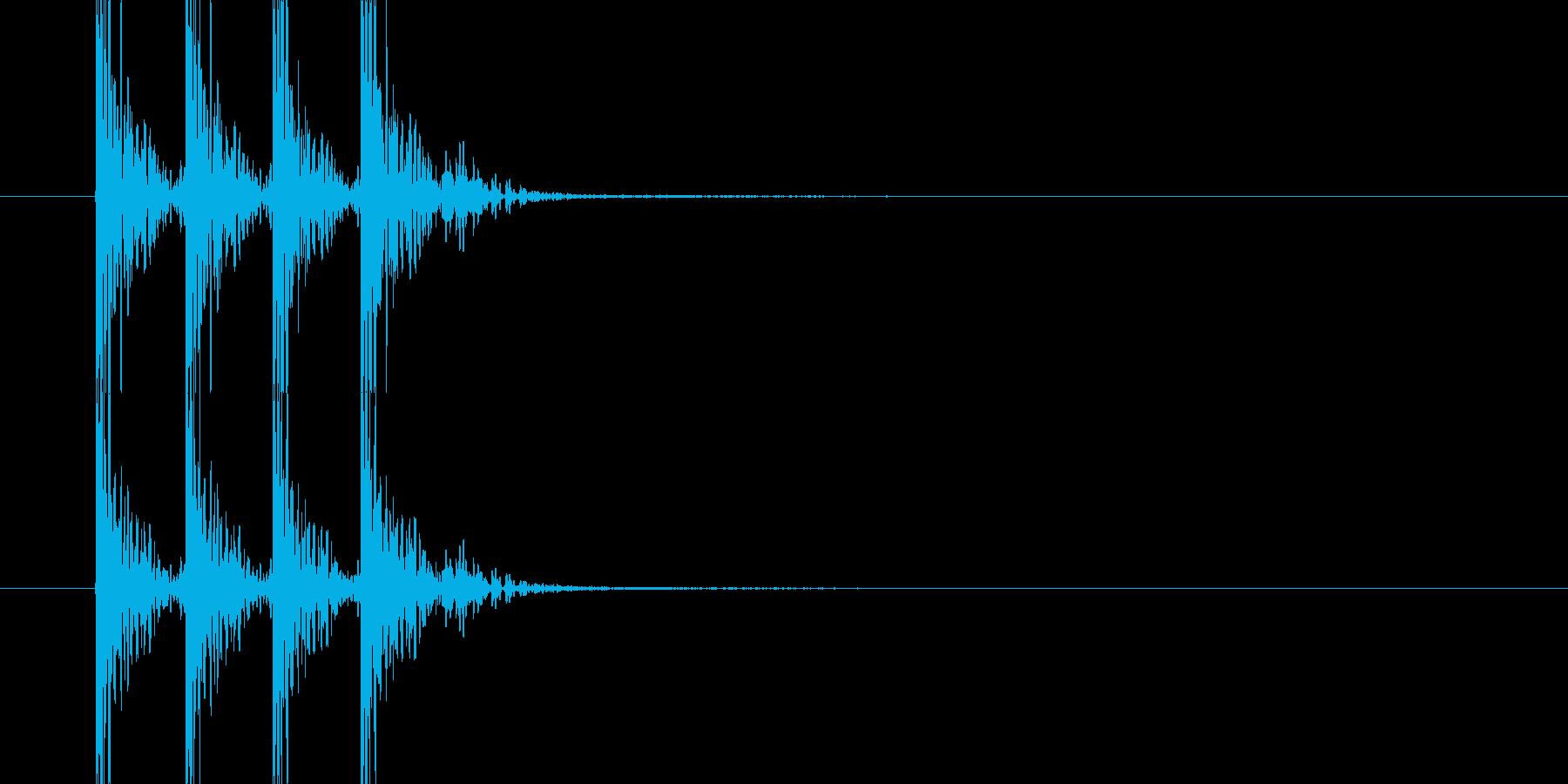 ドンドンドン(木のドアを叩く音)の再生済みの波形