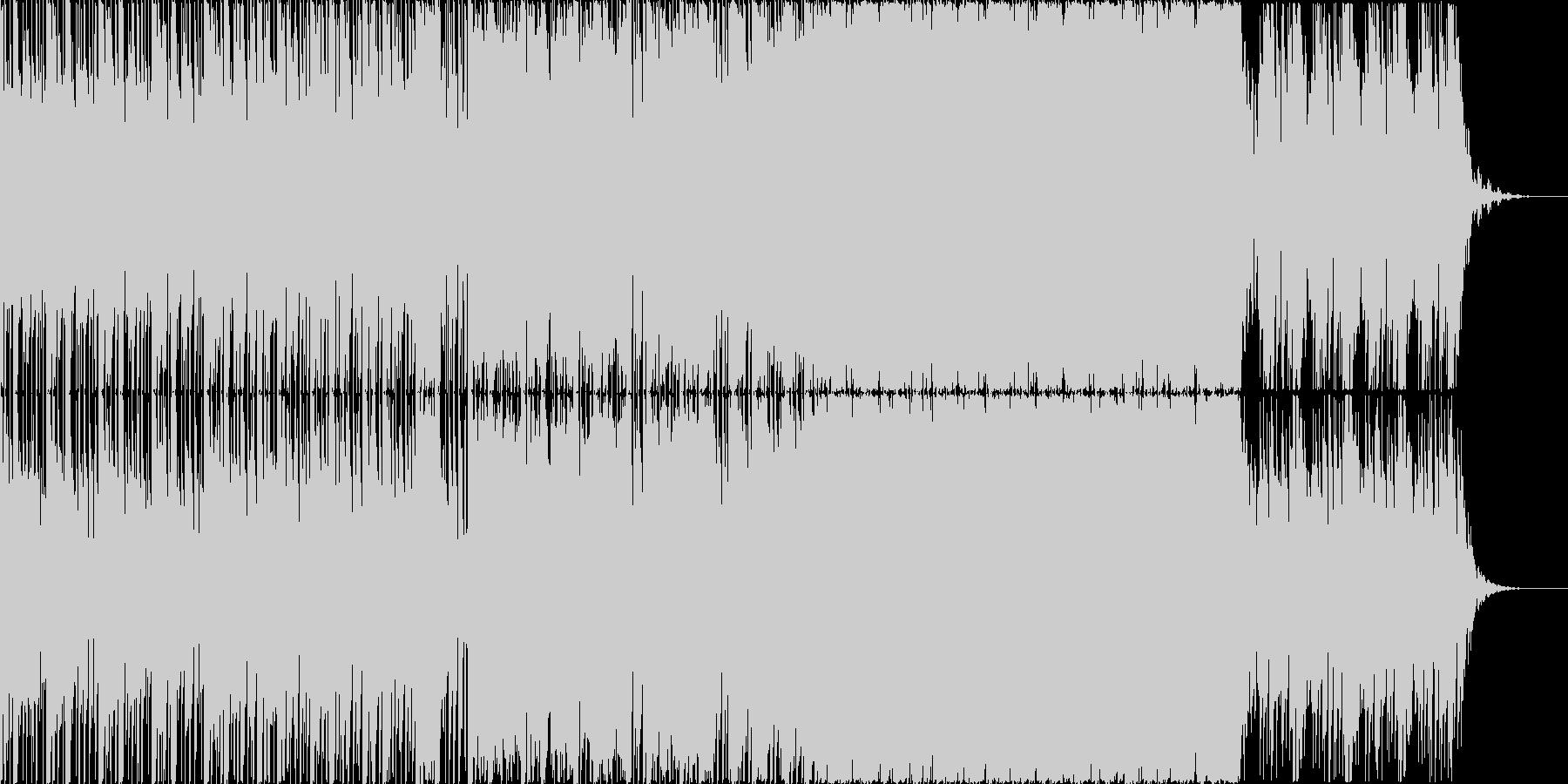 ビート上で奏でる浮遊感ある旋律の未再生の波形