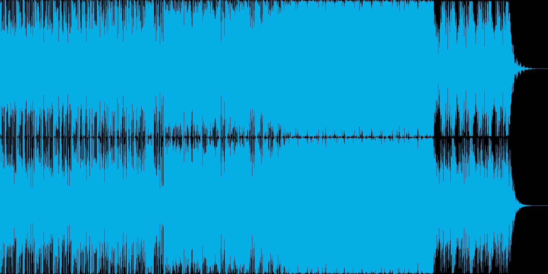 ビート上で奏でる浮遊感ある旋律の再生済みの波形
