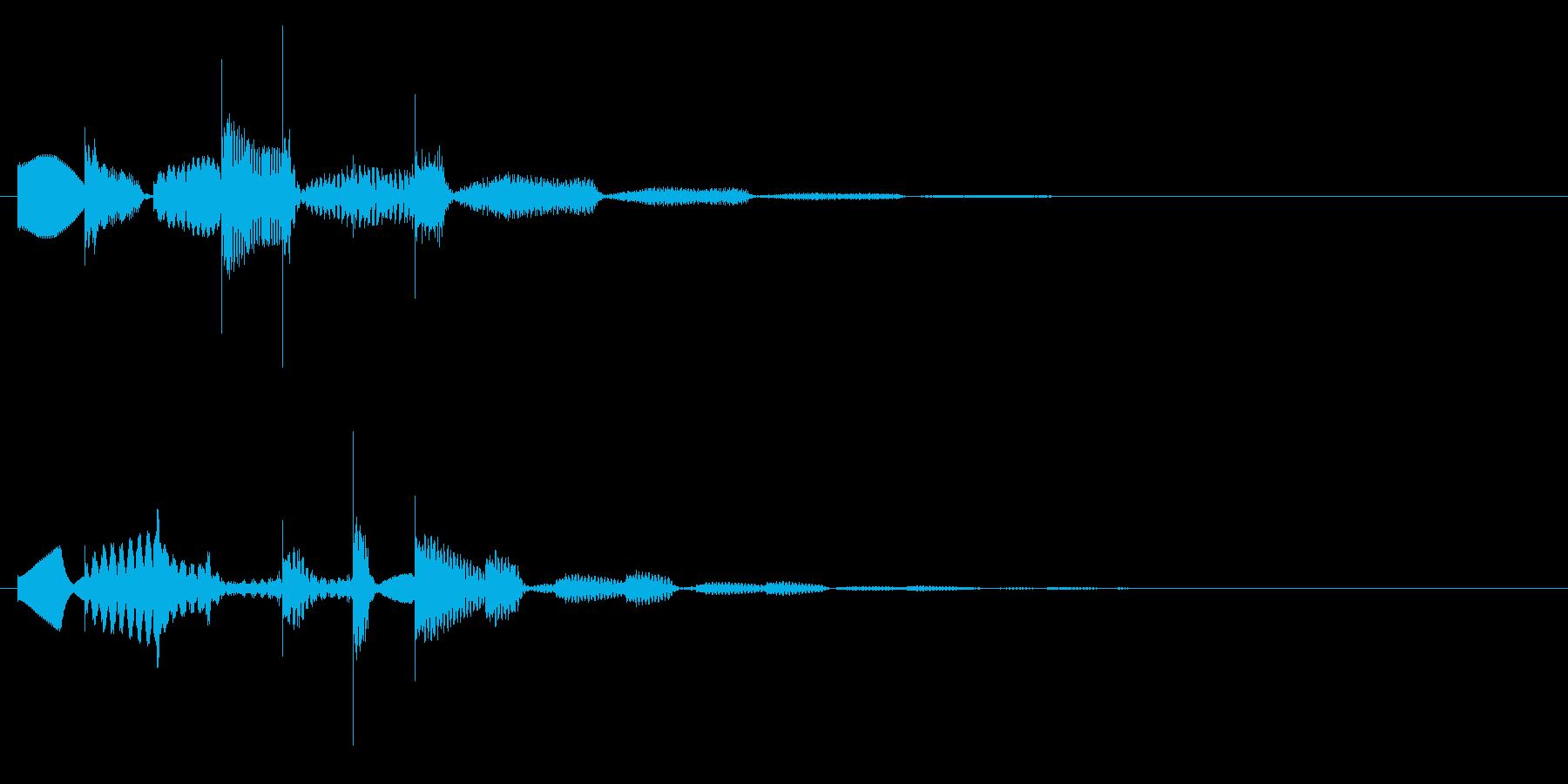ワンポイント、テロップ等(琴風)の再生済みの波形
