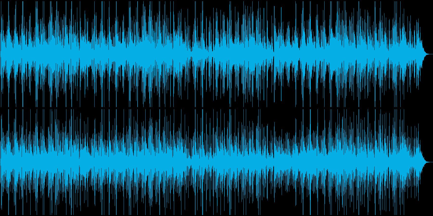 ロードムービー風、ルーズなBGMの再生済みの波形
