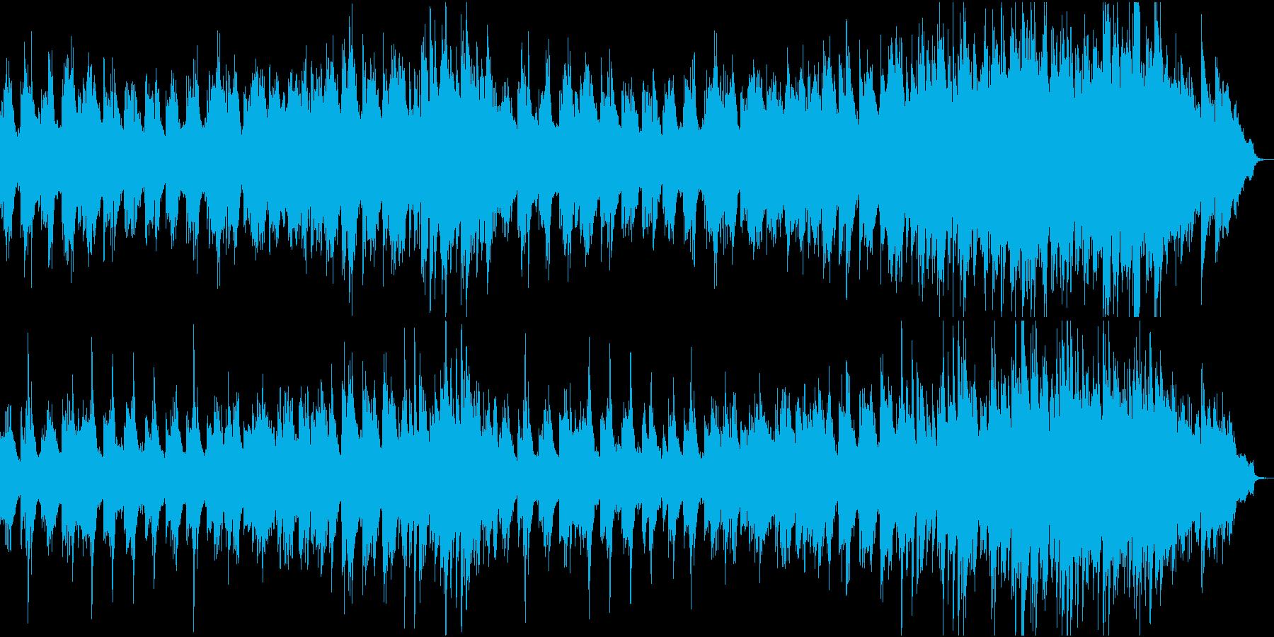 旋律を主体としたピアノ曲の再生済みの波形