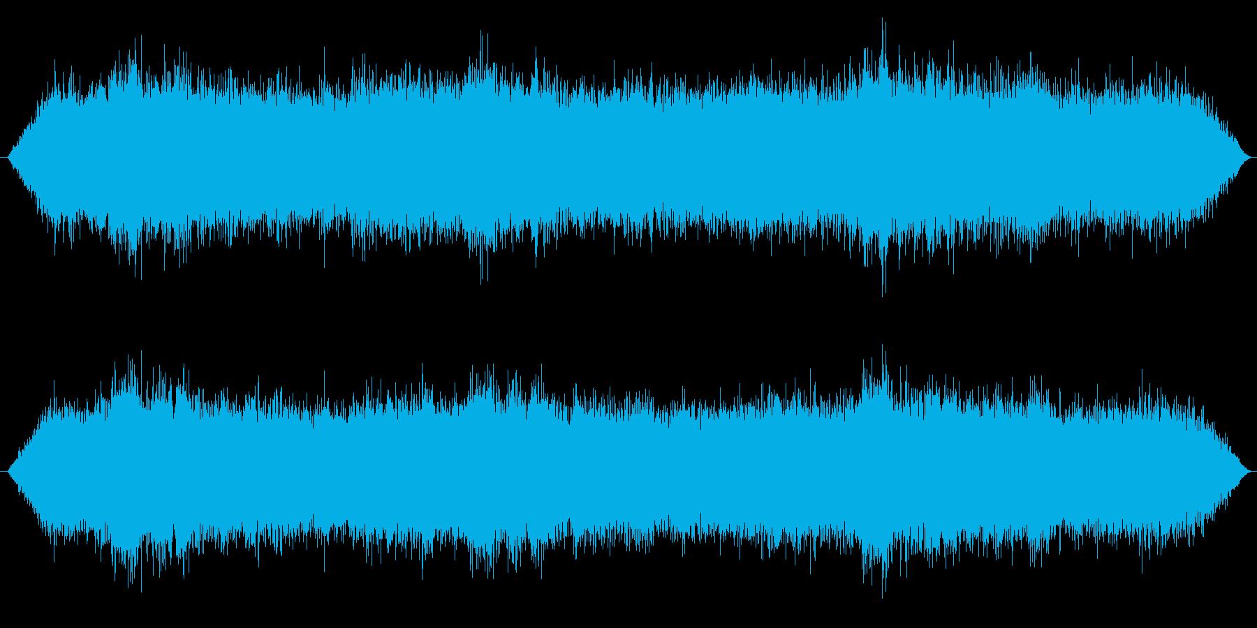 台風 嵐の再生済みの波形