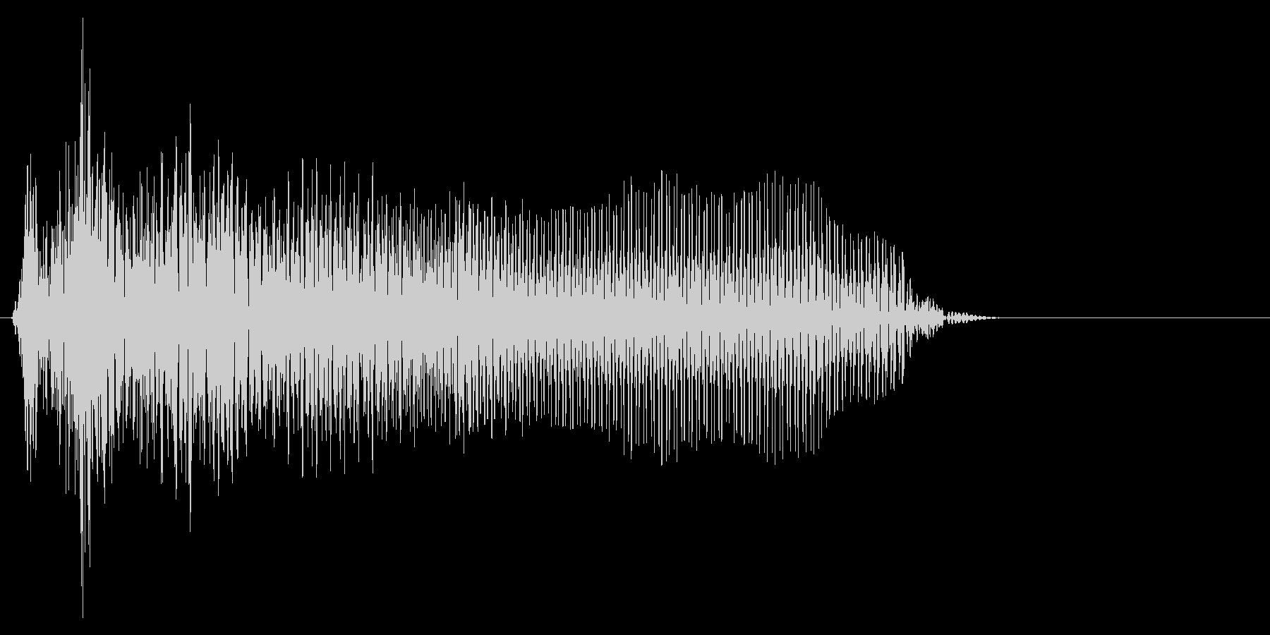ゲーム掛け声ゾンビ1オー5の未再生の波形