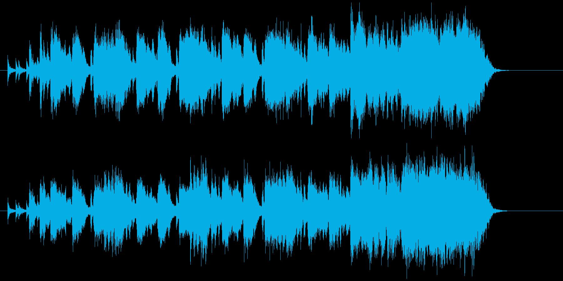 中央競馬のようなファンファーレの再生済みの波形