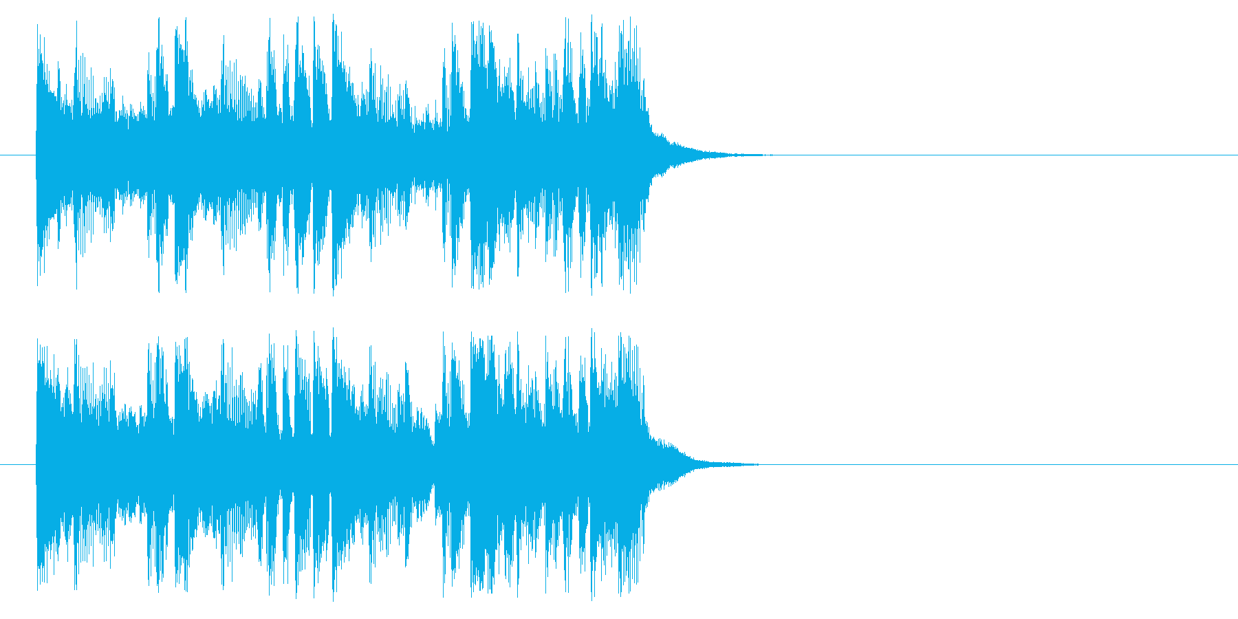 ジングル(楽しいラテン風)の再生済みの波形