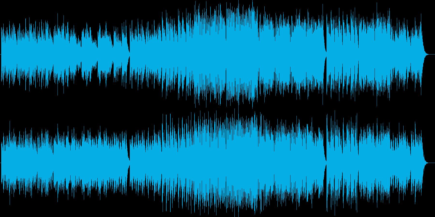 美しい音色のオルゴールシンセなどの曲の再生済みの波形