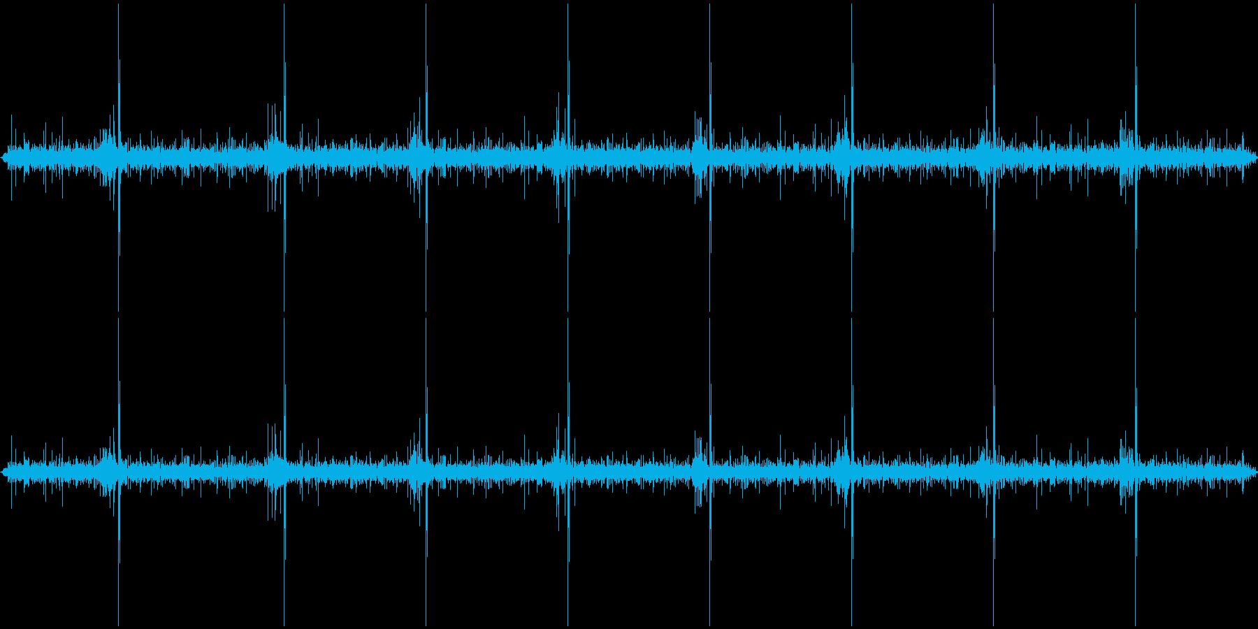 水流とししおどしの環境音の再生済みの波形