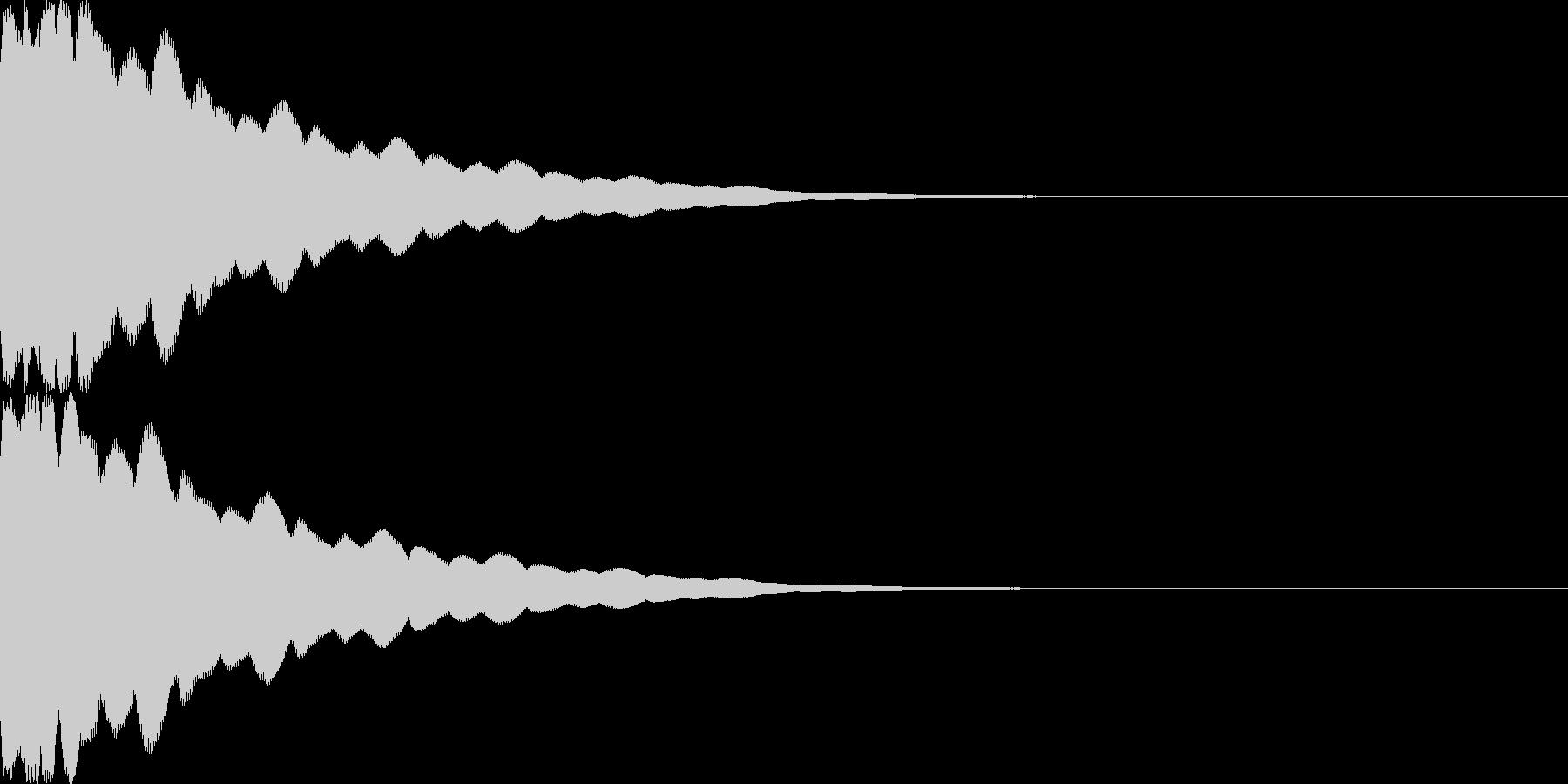 光イメージ音 キュピーン_03_ステレオの未再生の波形