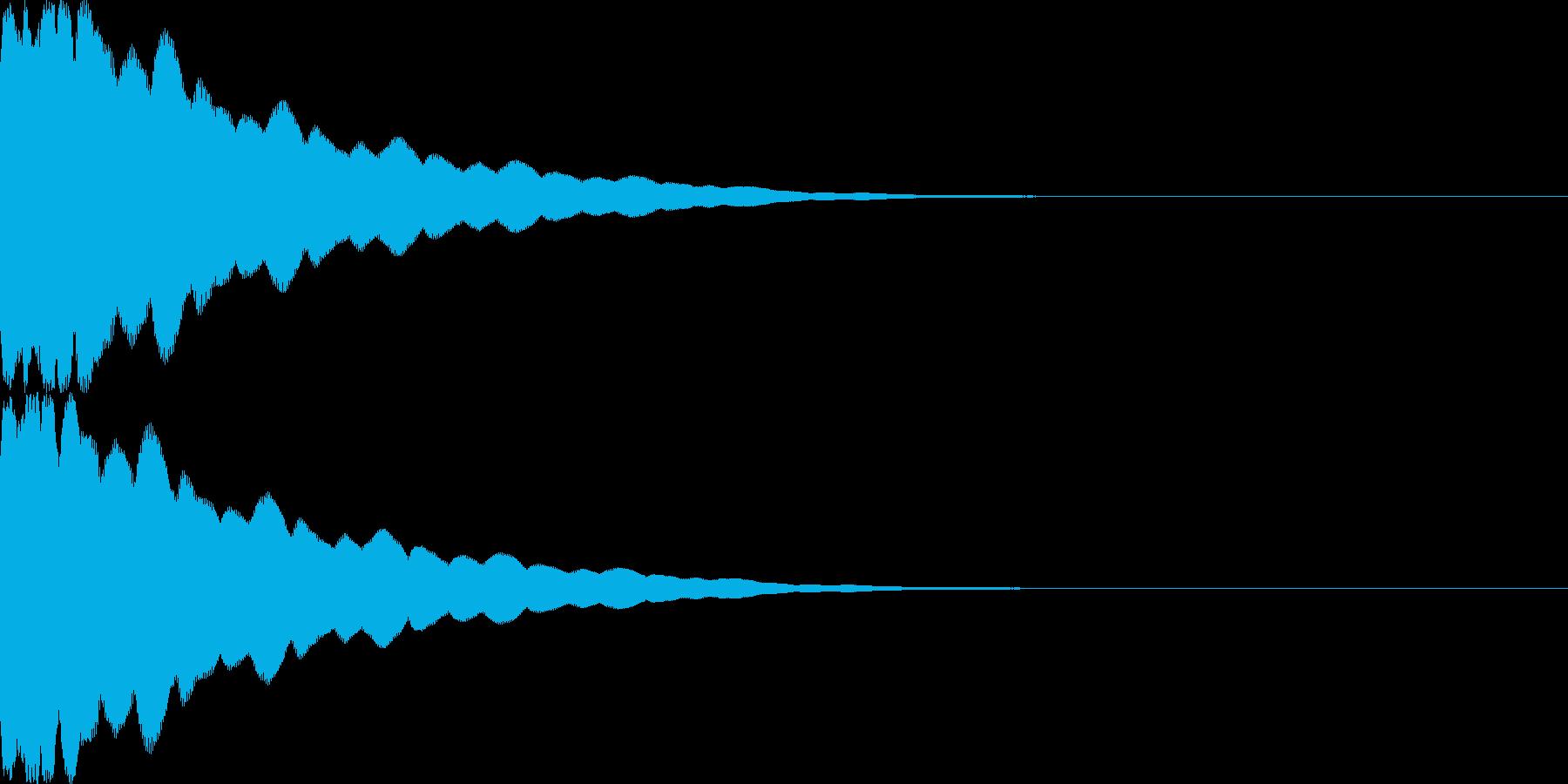 光イメージ音 キュピーン_03_ステレオの再生済みの波形