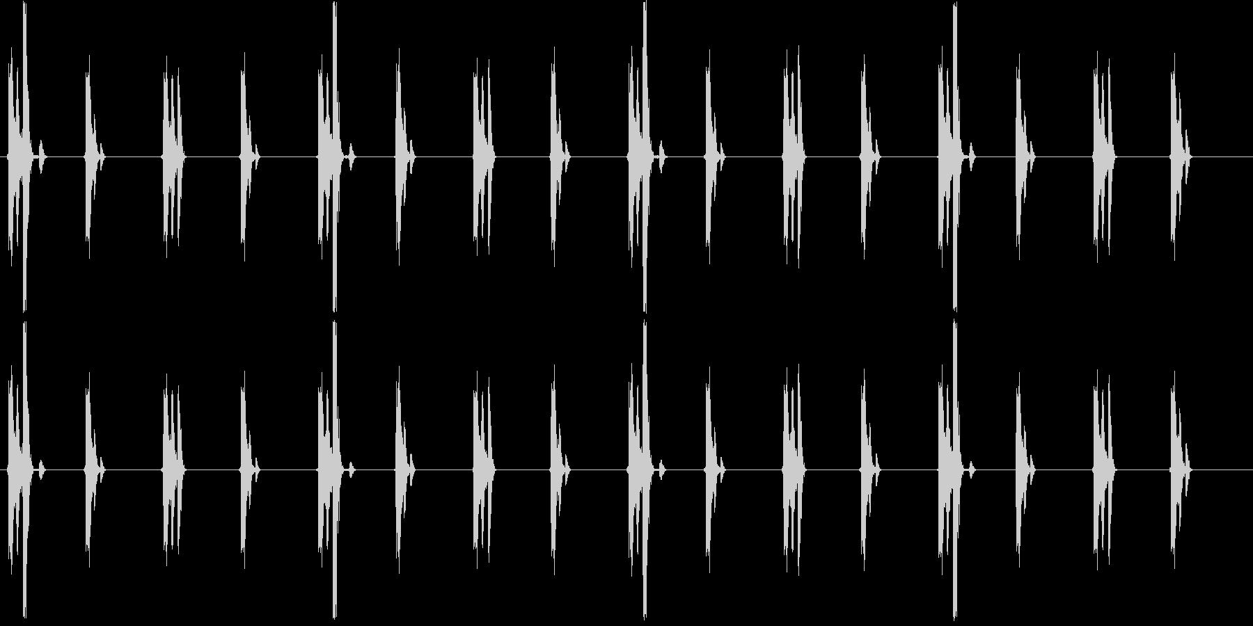 チクタクチクタク(時計、細かい刻み)の未再生の波形