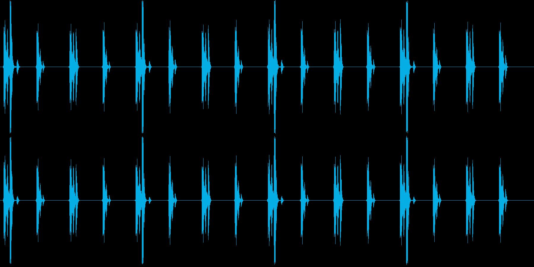 チクタクチクタク(時計、細かい刻み)の再生済みの波形