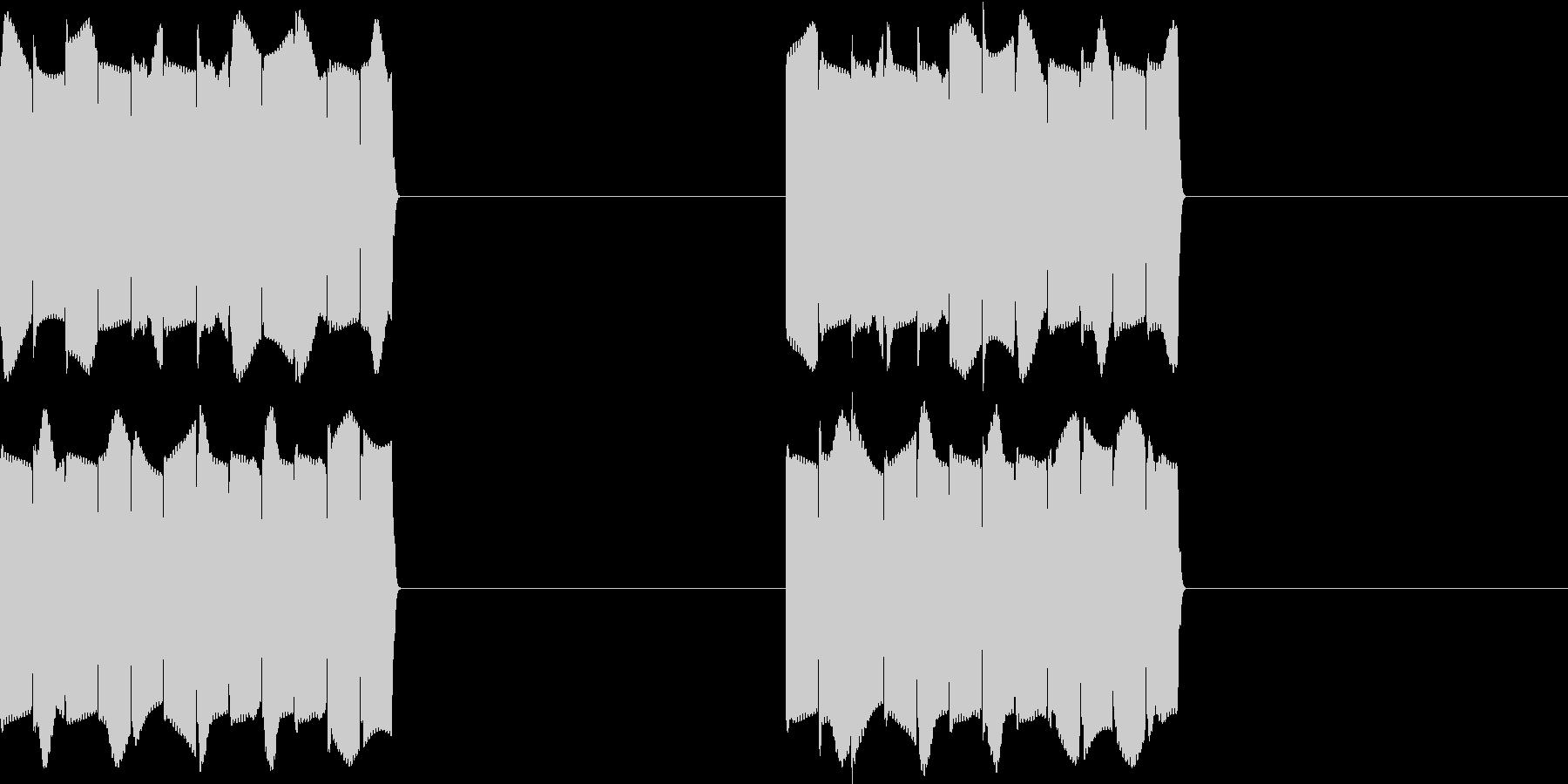 ピピピ..。携帯電話の着信音C(短め)の未再生の波形