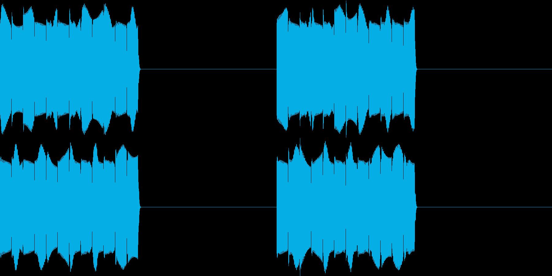 ピピピ..。携帯電話の着信音C(短め)の再生済みの波形