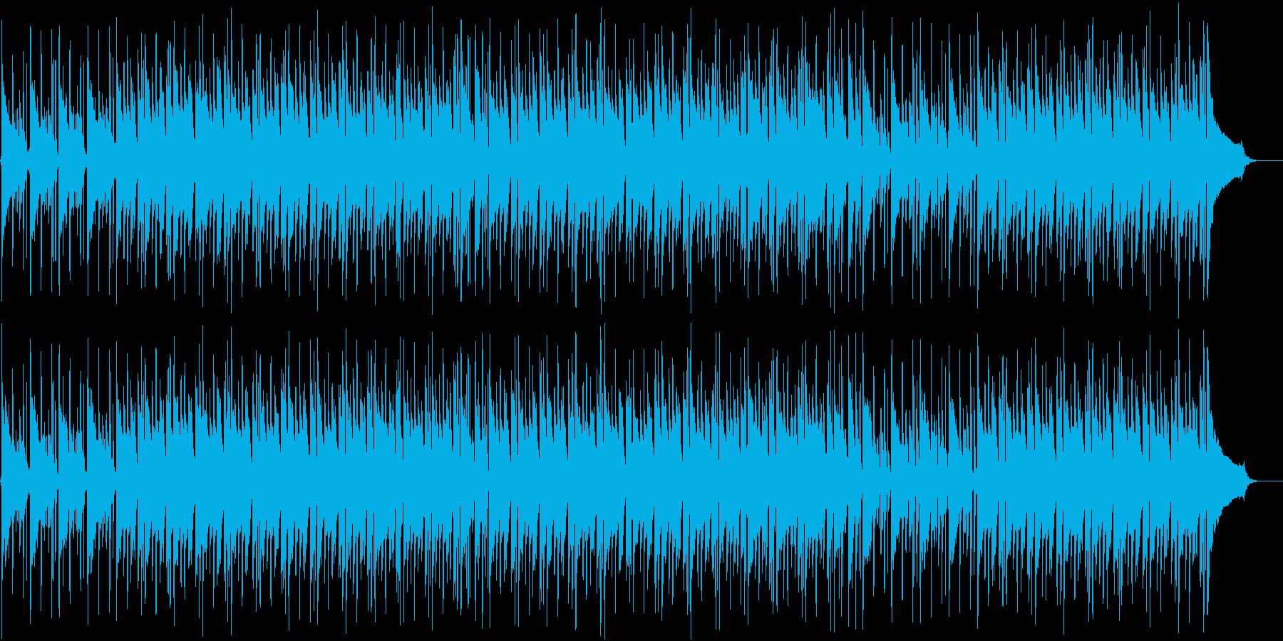 ほのぼのした雰囲気のBGMの再生済みの波形