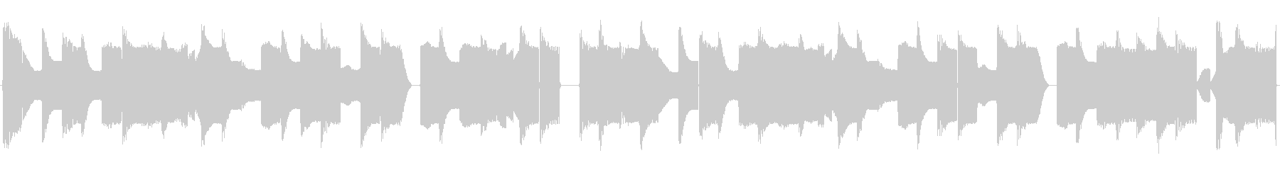チップチューンの短いループ4の未再生の波形