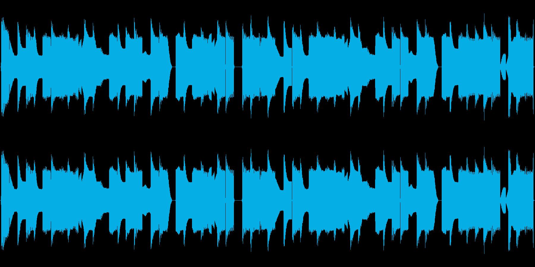 チップチューンの短いループ4の再生済みの波形