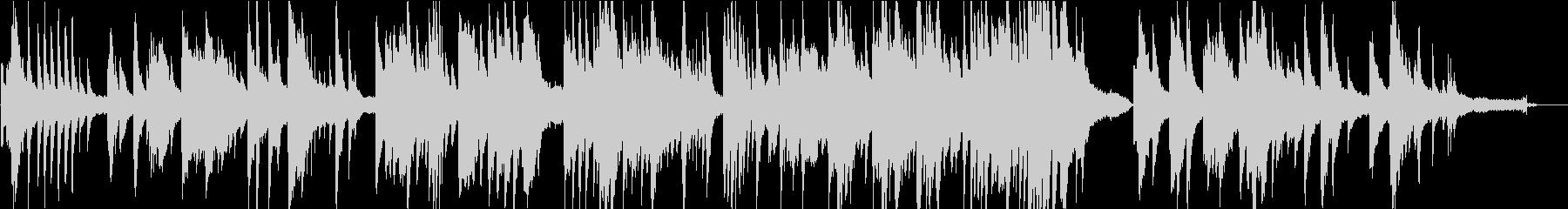移り変わっていくものを表したピアノ曲の未再生の波形