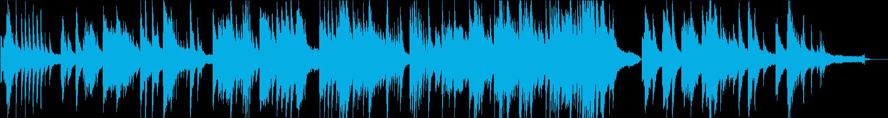 移り変わっていくものを表したピアノ曲の再生済みの波形